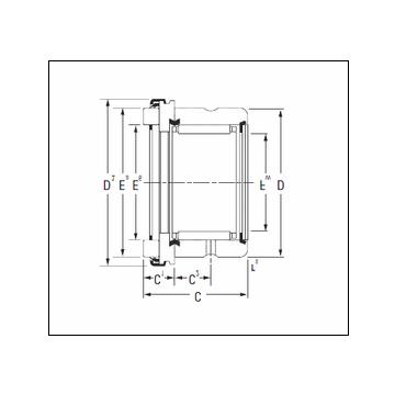 KOYO RAX 525 Complex Bearing